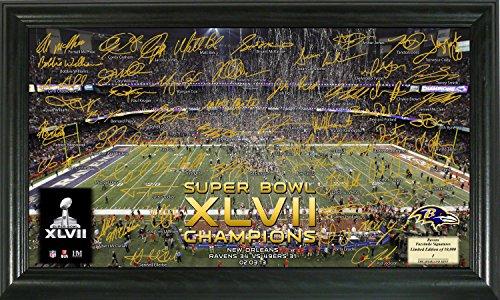 NFL Baltimore Ravens Super Bowl XLVII Champions Celebration Signature Gridiron, Black, 21