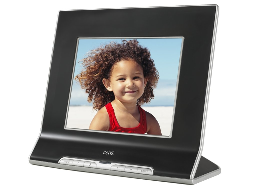 Amazon.com : CEIVA 8-inch Digital Photo Frame with Card Reader ...