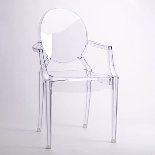 CLEAR GHOST ARMCHAIR TRANSPARENT CONTEMPORARY MODERN VICTORIA STARCK  INSPIRED ARM CHAIR