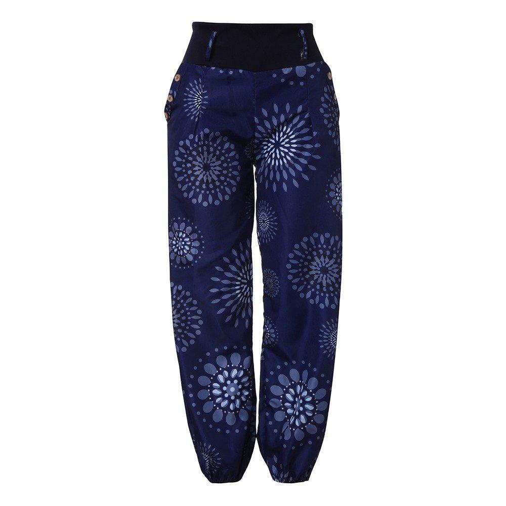 8c2beb55 LUCA Women's Loose Boho Aladdin Ethnic Print ggy Pants Pocket Hareem Full  Length Trouser Wide Leggings X-Large Navy: Amazon.in: Clothing & Accessories
