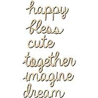6pcs Palabra de Felices Alfabetos de Madera Decoración