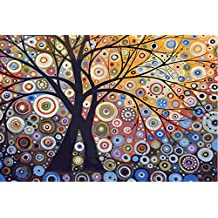 New Paint by Number Framed, Digital Oil Painting with Frame + Tree glare 16 X 20 inch + Diy Oil Painting Kits on Canvas for Adults Beginner Kids PBN with Wooden Frame Woods