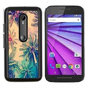 Stuss Case / Funda Carcasa protectora - Jamaica Palmera Coco Summer - Motorola MOTO G3 ( 3nd Generation )