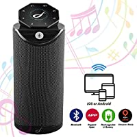 Thiroom Flyears Alexa Speaker Smart Music Robot Voice Control Interaction 2.4G Wi-Fi DLNA Bluetooth Speaker with Amazon Alexa Like Echo Tap, Black
