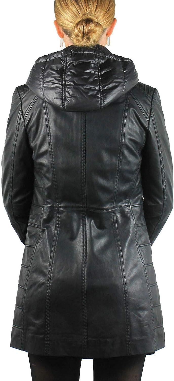 Donders Veste 3/4 Cuir Femme 57390 Noir