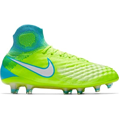 NIKE Womens Magista Obra II FG Cleats [Volt] (6.5)
