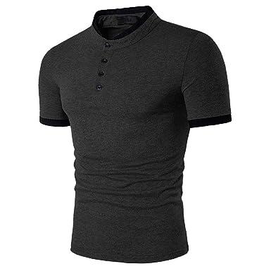 a1bbffa5b0e9f0 Veravant Herren Poloshirt T-Shirt Henry Kragen Kurzarm: Amazon.de:  Bekleidung