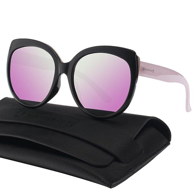 Amazon.com: vivienfang Mujer Polarizadas Cat Eye Sunglasses ...
