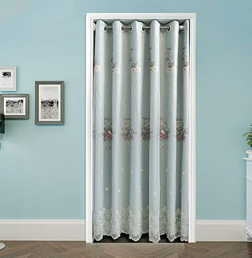 WPKIRA Room Darkening Thermal Insulated Grommet Top Double Curtain