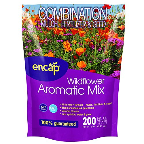 Encap Wildflower Aromatic Mix Combination Mulch, Fertilizer & Seed