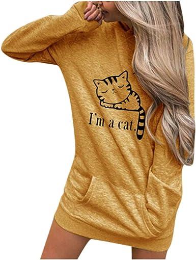 VEMOW Pullover Mujer Manga Larga Capucha Camisa de Entrenamiento Letras Sudadera Encapuchado Tops Blusa Camisetas Camisa OtoñO Invierno: Amazon.es: Ropa y accesorios