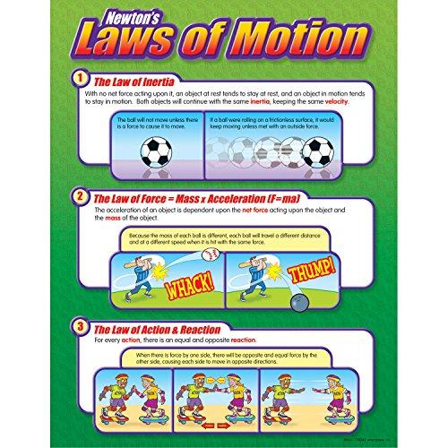 Amazon.com: Trend Enterprises Newton's Laws of Motion Learning ...