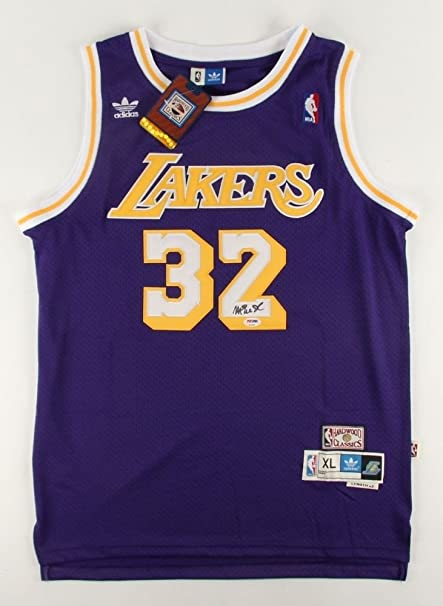 a8bdece67abd Magic Johnson Autographed Signed Lakers Jersey - PSA DNA Certified ...