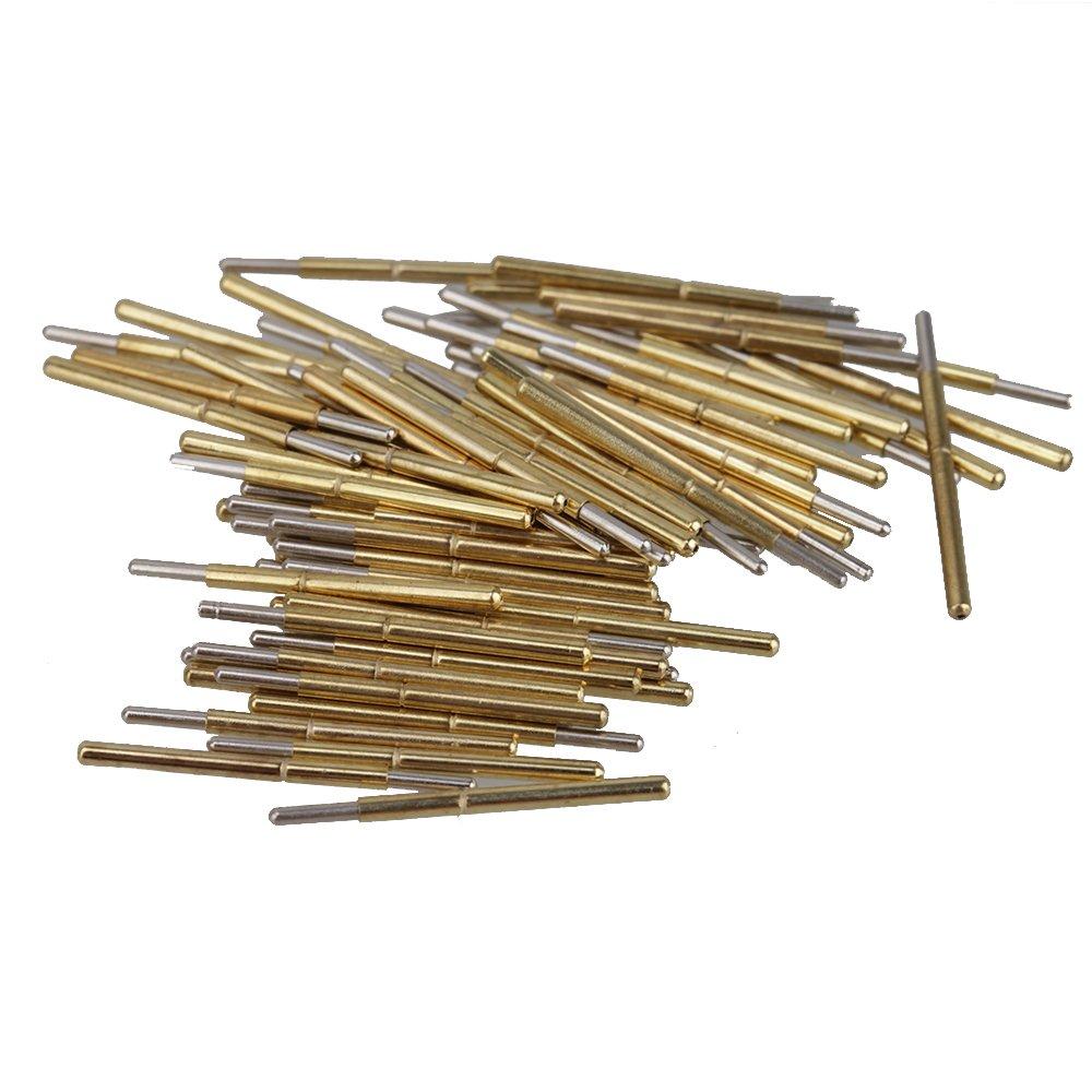 BQLZR Golden Silber Ton 1.02mm x 16.5mm 100g P75-J1 Feder Gerade Test Probes Stifte 100 St¨ ¹ ck N07472