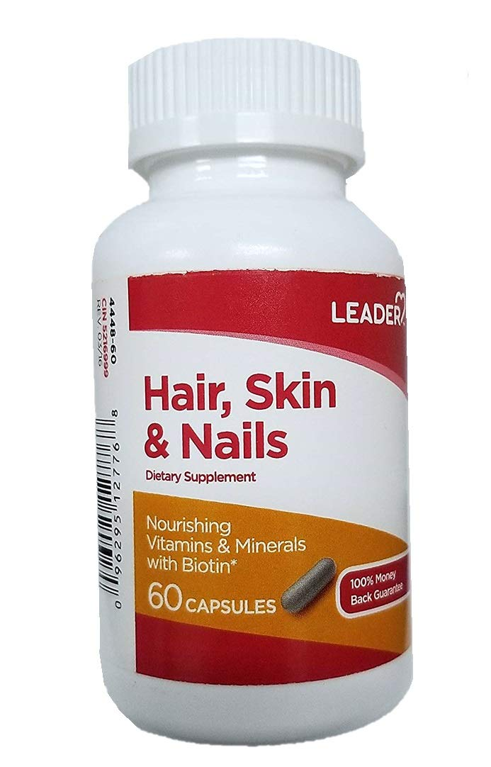 Leader Hair, Skin & Nails Supplement, 60 Capsules (Pack of 2) by Leader (Image #1)