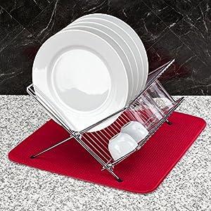 S&T 376900 Microfiber Dish Drying Mat, Cream