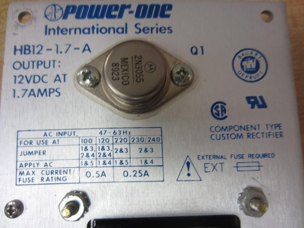 Power One Hb12 17 A 12vdc 17a Supply T16321 Mechanical As Shown Below P Channel Mosfet Irf4905 Is Used And It Component Equipment Cases Industrial Scientific