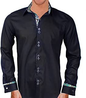 product image for Black with Teal and Gold Designer Dress Shirts - Made in USA