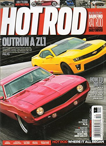 Hot Rod 2012 Magazine BUILDUP: BARN FIND RAT ROD PRO TOURING DAILY DRIVER Vintage Crash Pics MUSCLE (Hot Rods Cranks Rods)