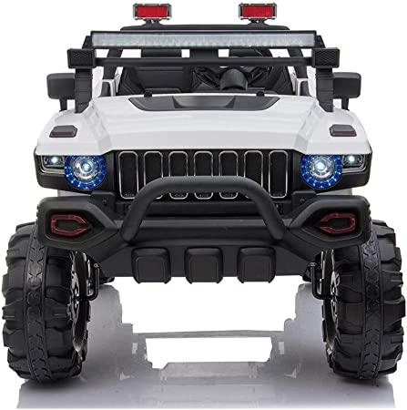 Camión para niños 2019 de dos (2) plazas con control remoto | Gran coche para niños con batería de 12 V para conducir con 3 velocidades, asiento de