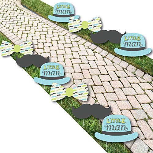 Dashing Little Man Mustache Party - Lawn Decorations - Outdoor Baby Shower or Birthday Party Yard Decorations - 10 Piece]()