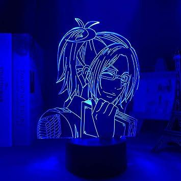 3D Night Light Anime 3D Light Attack On Titan Hange Zoe Lamp for Home Decor Birthday Gift Manga Attack On Titan LED Night Lamp Hange Zoe ZGLQ