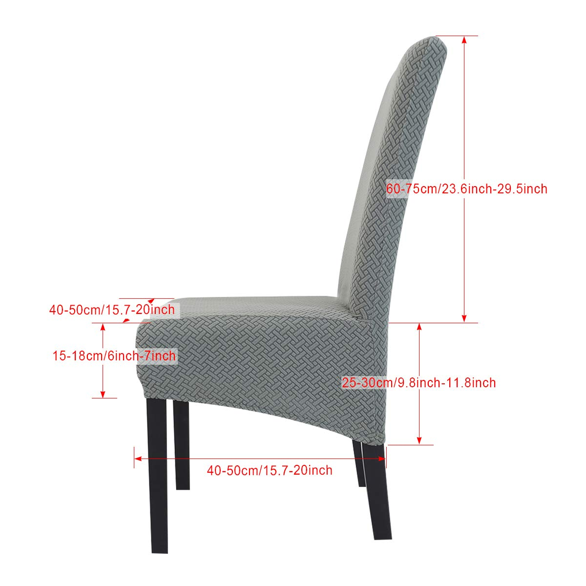 Camel, 1 PCS//Packet Hengweiuk Chair Covers Stretch Dining Chair Covers Removable High Back Chair Protective Washable Dining Cover Slipcover for Dining Room Kitchen Wedding Banquet Party Decoration