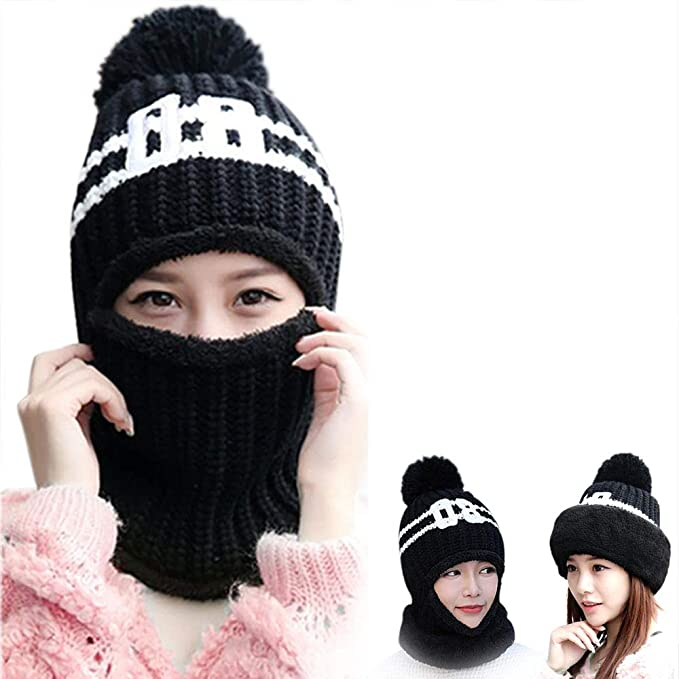 2a8630b811d8b Thicker Knitted Beanies Windproof Motorcycle Neck Warmer Ski Face Mask  Balaclava Tactical Hood Winter Soft Warm