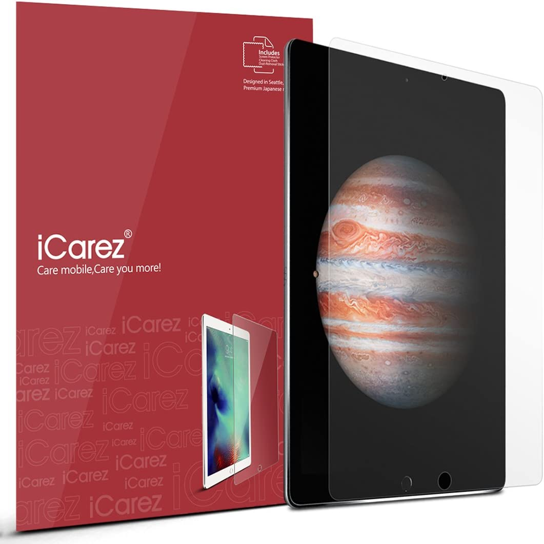 iCarez Matte Screen Protector for iPad Pro 12.9 (2015 2017 with Home Button Version) 12.9-inches, 2-Pack Anti-glare