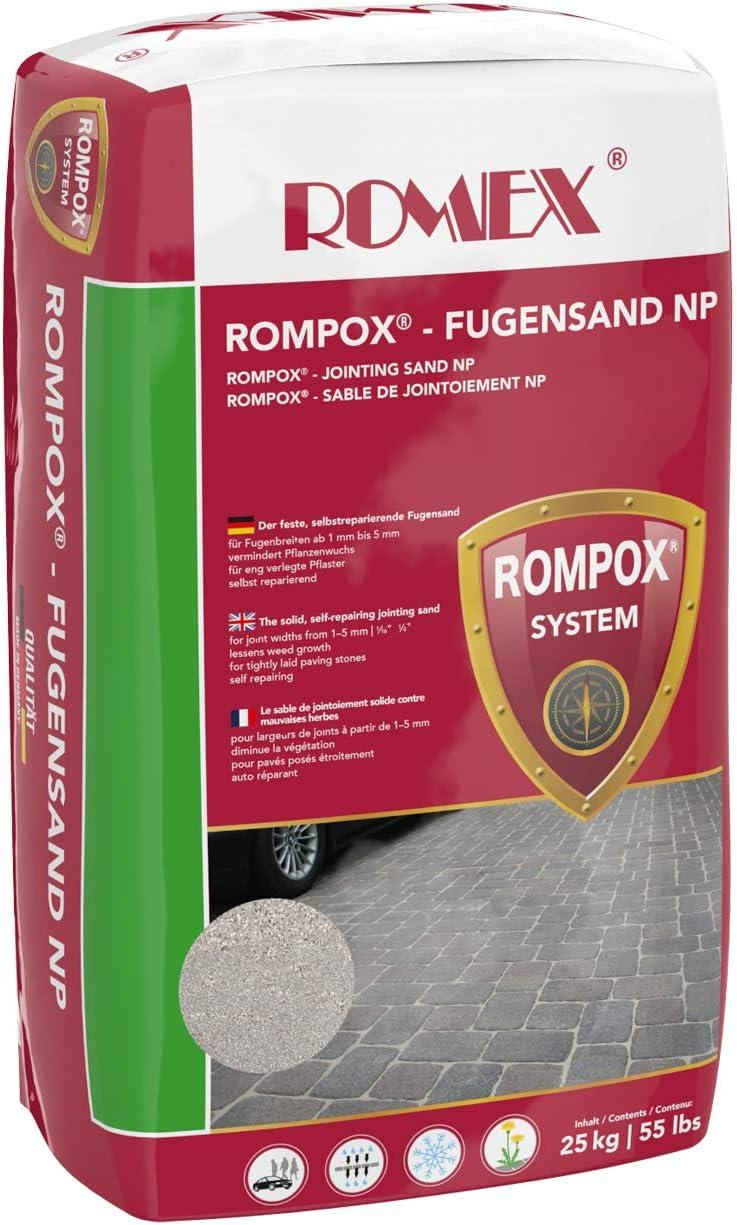 Der feste Fugensand gegen Unkraut Farbe Basalt ROMEX Fugensand NP 25kg Sack