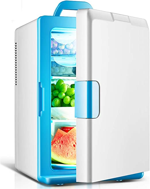 AIBAB Refrigerador del Coche Mini Nevera 12v / 220v Tipo De Puerta Única Doble Refrigeracion Aislamiento De Espuma De Poliuretano. 18L: Amazon.es: Jardín