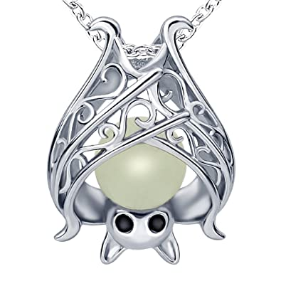 pendant necklace alchemy swooping little bat gothic diodati villa