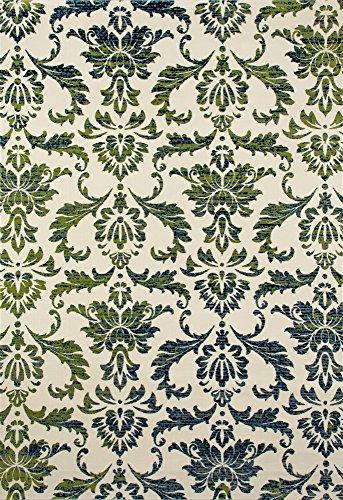 Art Carpet Bastille Collection Victorian Woven Area Rug, 8' x 11', Cream/Blue/Green ()