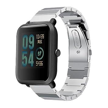 Preventosamente para Xiaomi Amazfit Bip Reloj de Pulsera de la Juventud, Nuevo Creativo Acero Inoxidable