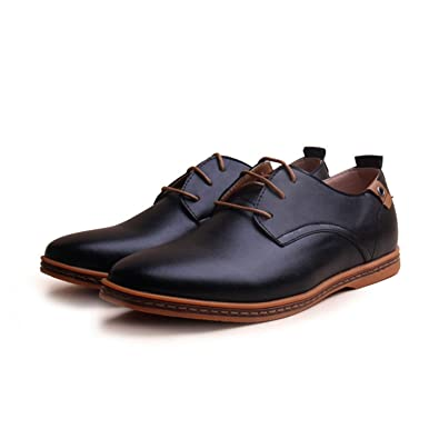 Amazon Com Nerefy 2018 Leather Casual Men Shoes Fashion Men Flats