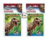 2 PK Jurassic World Party Invitations, 16ct