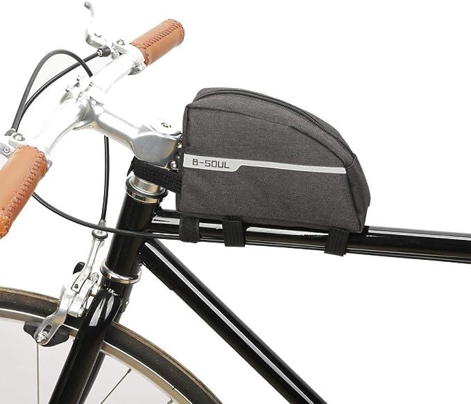 Zdmathe Triángulo Marco de la Bicicleta Bolsa Bike Top Tube Pack ...