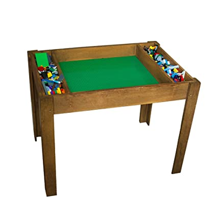 Brick Nation LEGO Compatible Table With Storage For Older Kids By Extra  Large Play Table With