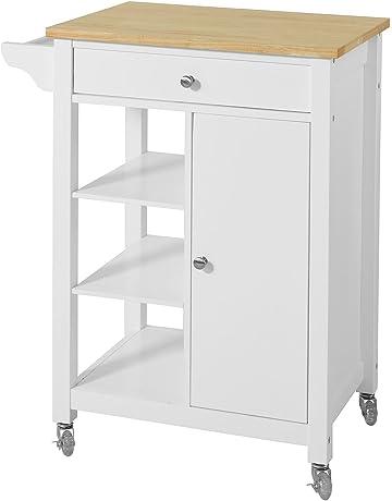SoBuy® Carrito de Servir, estantería de Cocina, Carrito de Cocina móvil,FKW46