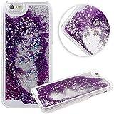 Shark-TM Floating Bling Glitter Sparkle Stars Hard Case For Apple Iphone 6(5.5-Inch)(Puple)