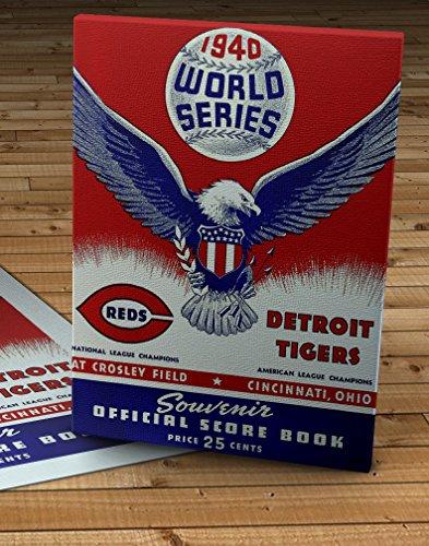 1940 Vintage Detroit Tigers - Cincinnati Reds - World Series Program - Canvas Gallery Wrap - 12 x 16