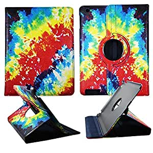 Tie & Die Design Apple Ipad 2 / 3 / 4 PU (Poly) Synthetic Leather Folding Tablet 360 Rotating Case Cover Hard Phone Case Snap-on Cover Rubberized Touch Faceplates