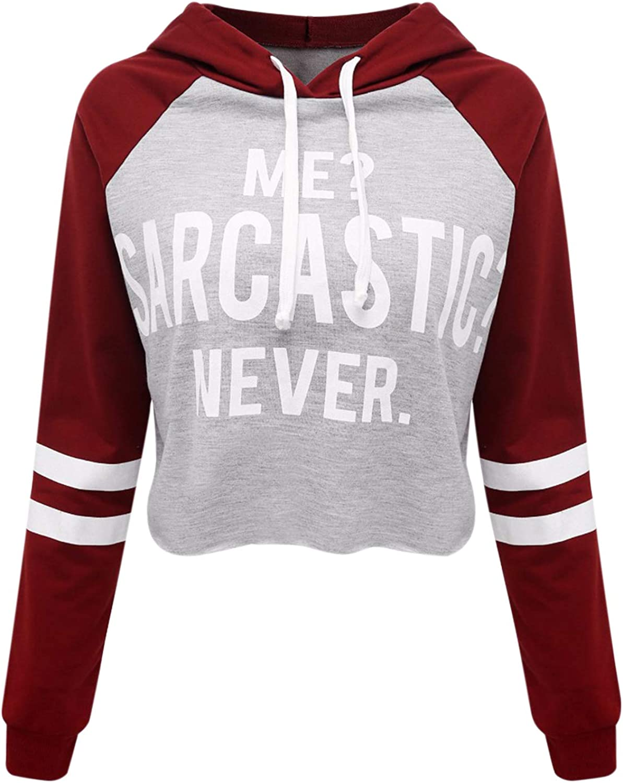 Lisli Womens Girls Hooded Hoodie Long Sleeve Letters Print Sweatshirt Jacket