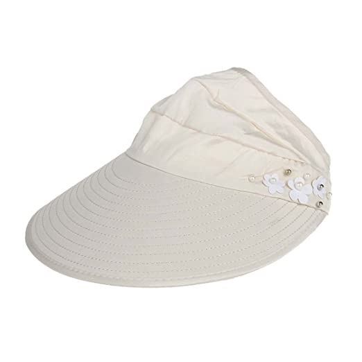 9df2cbe3 Summer Women Hat Clearance ♥ Outdoor Beach Sunscreen Cap UV Protection Caps  Sun Visor Hat (