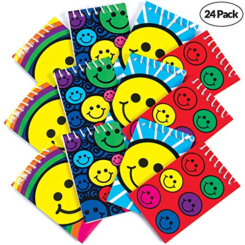 Cute Smiley Faces - Mini Spiral Notepads - (Pack of 24) 2.4