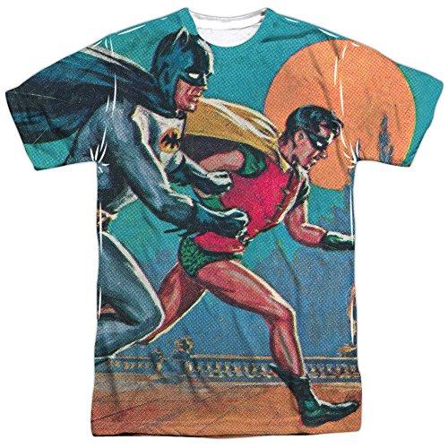 Batman+Retro+Shirts Products : Batman Classic TV Series Retro Robin Let's Go Adult 2-Sided Print T-Shirt