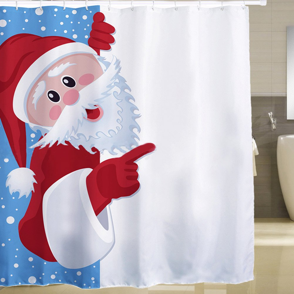 candora Weihnachts Solide Duschvorhang, wasserdicht Dusche ...