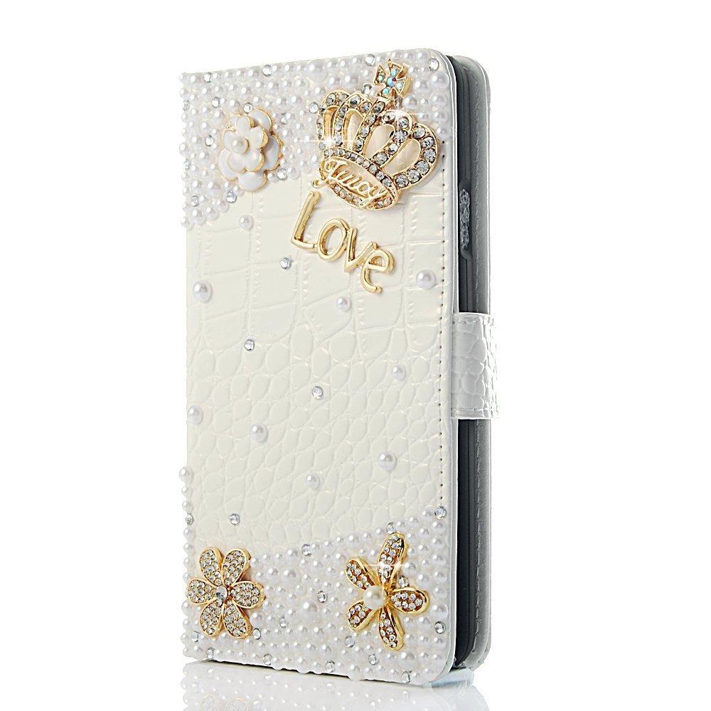 EVTECH (TM) Krokodil Serie Luxuxkristalldiamant Bling Charming Plü sch Entwurf PU Leder Brieftasche Tasche Hü lle fü r Samsung Galaxy S4 S IV i9500 9505 M919(not nicht fit S4 active version)