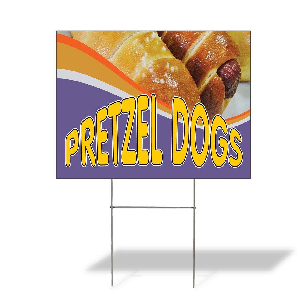 Amazon Com Plastic Weatherproof Yard Sign Pretzel Dogs 1