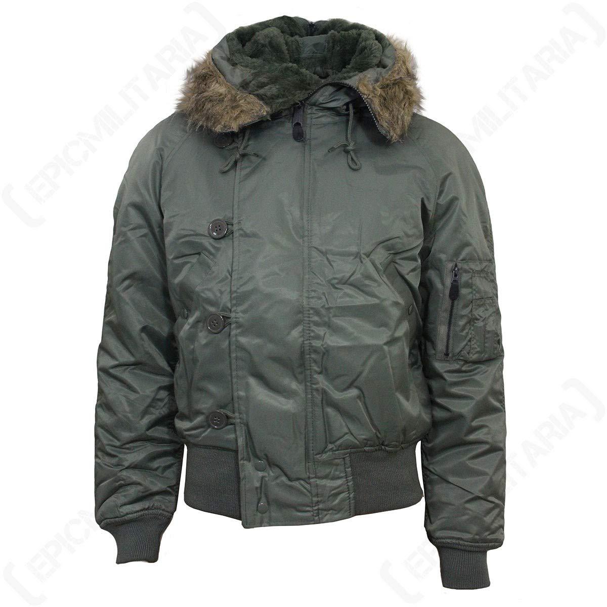 Mil-Tec N2B Flight Jacket Olive size XL by CamoOutdoor